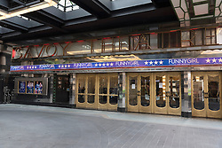 © Licensed to London News Pictures. 12/05/2016. Exterior of the Savoy Theatre. Announcement of actress SHERIDAN SMITH absent from stage play Funny Girl playing the lead role of Fanny Brice due to indisposition London, UK. Photo credit: Ray Tang/LNP