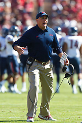 PALO ALTO, CA - OCTOBER 06: Head coach Rich Rodriguez of the Arizona Wildcats on the sidelines against the Stanford Cardinal during the third quarter at Stanford Stadium on October 6, 2012 in Palo Alto, California. The Stanford Cardinal defeated the Arizona Wildcats 54-48 in overtime. (Photo by Jason O. Watson/Getty Images) *** Local Caption *** Rich Rodriguez