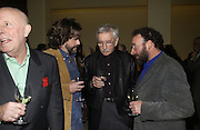Richard Wilson, Greg Doran, Edward Albee and Tony Sher. The after party following the press night for 'Who's Afraid Of Virginia Woolf?' at the Aldwych theatre on January 31 2006  January 31  2006. © Copyright Photograph by Dafydd Jones 66 Stockwell Park Rd. London SW9 0DA Tel 020 7733 0108 www.dafjones.com