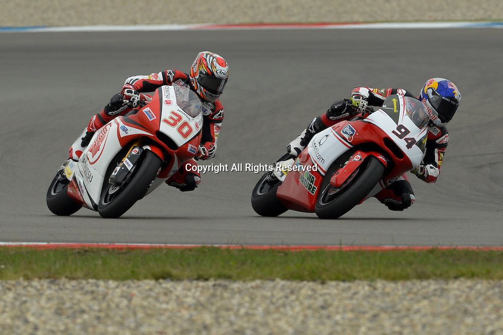 27.06.2014.  Assen, Netherlands. MotoGP. Iveco Daily TT Assen Qualifying. Moto2 riderS Jonas Folger ( AGR Team) and Takaaki Nakagama (Idemitsu Honda Team) during the qualifying sessions at TT Assen circuit.