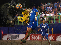 SAN SALVADOR, EL SALVADOR - MARCH 30:  CONCACAF Beach Soccer Championships El Salvador 2015 at Costa del Sol Stadium on March 30, 2015 in San Salvador. El Salvador. (Photo by Manuel Queimadelos)