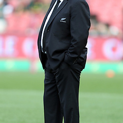 JOHANNESBURG, SOUTH AFRICA - OCTOBER 04: Steve Hansen (Head Coach) of New Zealand during The Castle Rugby Championship match between South Africa and New Zealand at Ellis Park on October 04, 2014 in Johannesburg, South Africa. (Credit Steve Haag/Gallo Images)