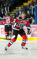KELOWNA, CANADA - OCTOBER 3:  Ryan Olsen #27 of the Kelowna Rockets skates on the ice against the Vancouver Giants at the Kelowna Rockets on October 3, 2012 at Prospera Place in Kelowna, British Columbia, Canada (Photo by Marissa Baecker/Getty Images) *** Local Caption *** Ryan Olsen;