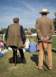© Licensed to London News Pictures. 10/05/2017. Windsor, UK. Spectators watch competitors in the Senior Horse/Pony - ridden category on the first day of the Royal Windsor Horse Show. The five day equestrian event takes place in the grounds of Windsor Castle. Photo credit: Peter Macdiarmid/LNP