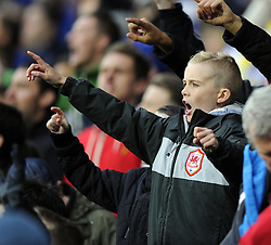 Cardiff City fan - Photo mandatory by-line: Joe Meredith/JMP - Tel: Mobile: 07966 386802 03/11/2013 - SPORT - FOOTBALL - The Cardiff City Stadium - Cardiff - Cardiff City v Swansea City - Barclays Premier League