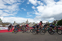A view of the start of the Prudential RideLondon-Surrey Classic in Horse Guards Parade 30/07/2017<br /> <br /> Photo: Jon Buckle/Silverhub for Prudential RideLondon<br /> <br /> Prudential RideLondon is the world's greatest festival of cycling, involving 100,000+ cyclists – from Olympic champions to a free family fun ride - riding in events over closed roads in London and Surrey over the weekend of 28th to 30th July 2017. <br /> <br /> See www.PrudentialRideLondon.co.uk for more.<br /> <br /> For further information: media@londonmarathonevents.co.uk