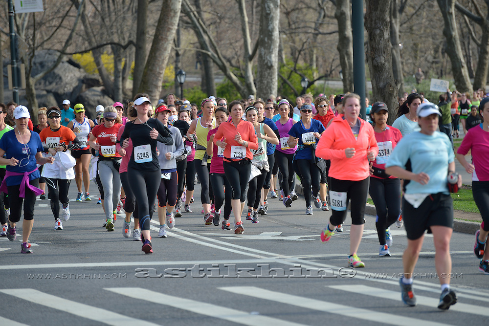 Runners on Central Park New York City.