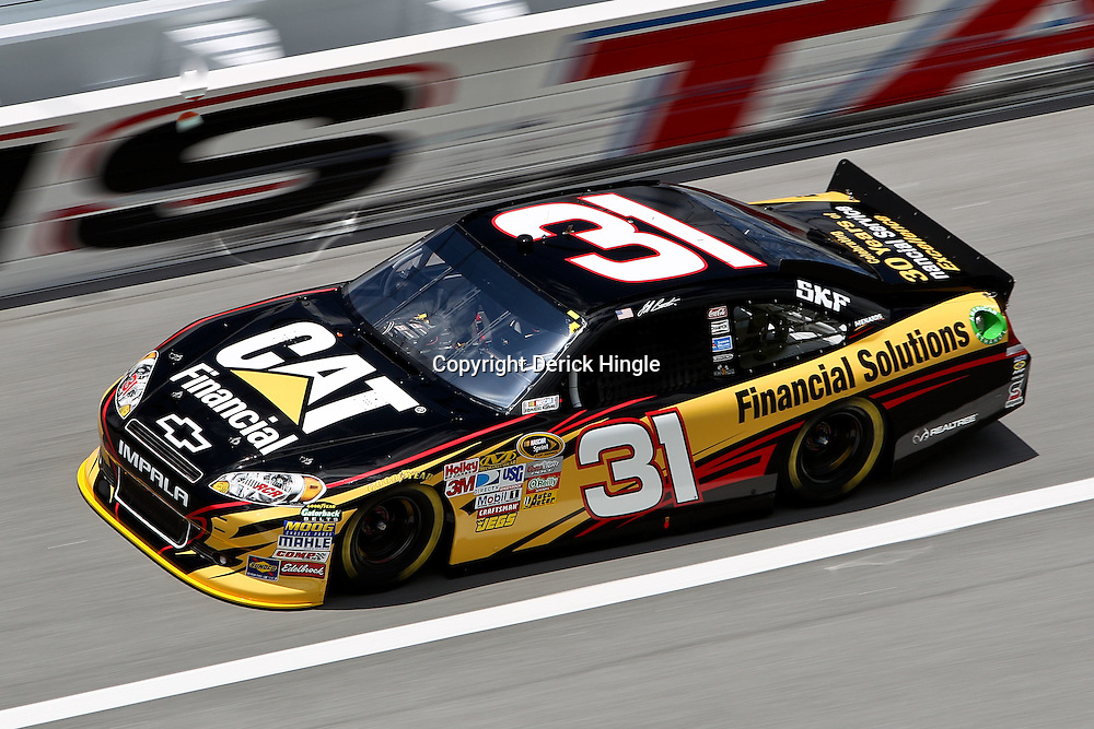April 16, 2011; Talladega, AL, USA; NASCAR Sprint Cup Series driver Jeff Burton (31) during qualifying for the Aarons 499 at Talladega Superspeedway.   Mandatory Credit: Derick E. Hingle
