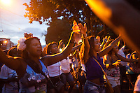 Residents of Madureira neighborhood rehearsal their samba dance in preparation for Carnaval, in Rio de Janeiro, Brazil, on Sunday, Jan 13, 2013.