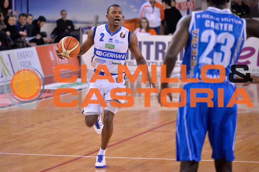 Lee Moore<br /> Germani Basket Brescia Leonessa - Banco di Sardegna Dinamo Sassari <br /> Lega Basket Serie A 2016/2017<br /> Montichiari, 05/02/2017<br /> Foto Ciamillo-Castoria