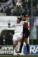 Milano 12-12-2004<br /> <br /> Campionato di calcio Serie A 2004-05<br /> <br /> Milan Fiorentina<br /> <br /> nella  foto Christian Rigano Fiorentina  and Alessandro  Nesta Milan <br /> <br /> Foto Snapshot / Graffiti