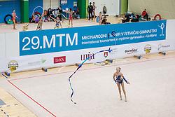 Gaspersic Iza of Slovenia competes during 29th MTM - International tournament in rhythmic gymnastics Ljubljana, on March 12, 2016 in gymnastics center Ljubljana, Ljubljana, Slovenia.  Photo by Grega Valancic / Sportida