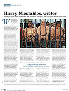 Assignment for Sunday Times Magazine - Austrailan writer Harry Nicolaides sentenced to 3 years in prison after pleading guilty to lese-majeste for insulting Thailand's Monarchy.  He was released in February 2009 after recieving a pardon.