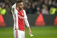 18-12-2016: Voetbal: Ajax v PSV: Amsterdam<br /> <br /> (L-R) Ajax speler Hakim Ziyech baalt na afloop van het Eredivisie duel tussen Ajax en PSV op 18 december in De Arena tijdens speelronde 17<br /> <br /> Eredivisie - Seizoen 2016 / 2017<br /> <br /> Foto: Gertjan Kooij