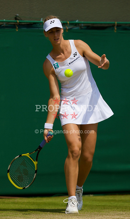 LONDON, ENGLAND - Saturday, June 28, 2008: Elena Dementieva (RUS) during her third round match on day six of the Wimbledon Lawn Tennis Championships at the All England Lawn Tennis and Croquet Club. (Photo by David Rawcliffe/Propaganda)