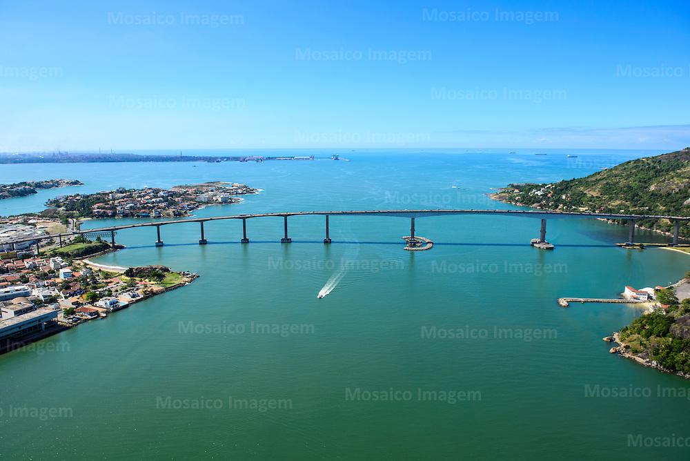 Brasil - Espirito Santo - Vitoria - Vista aerea da Terceira Ponte e Baia de Vitoria - Foto: Gabriel Lordello/ Mosaico Imagem