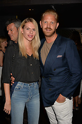 Alistair Guy and Barbora Bediova at the Quaglino's Q Legends Summer Launch Party hosted by Henry Conway at Quaglino's, 16 Bury Street, London England. 18 July 2017.<br /> Photo by Dominic O'Neill/SilverHub 0203 174 1069 sales@silverhubmedia.com