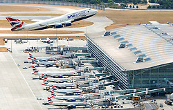 London Heathrow Aerail Shoot. Terminal 5. Pic Anthony Charlton. Client London Heathrow Airport LTD