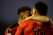 Crawley Town celebrate after going 2-1 up in the second half during the EFL Sky Bet League 2 match between Crawley Town and Grimsby Town FC at the Checkatrade.com Stadium, Crawley, England on 26 November 2016. Photo by Jarrod Moore.