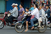 Cholon (Chinatown). Motorcycles during morning rushhour.
