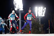 PYEONGCHANG-GUN, SOUTH KOREA - FEBRUARY 12: Timofei Lapshin of Korea during the Mens Biathlon 12.5km Pursuit at Alpensia Biathlon Centre on February 12, 2018 in Pyeongchang-gun, South Korea. Photo by Nils Petter Nilsson/Ombrello               ***BETALBILD***