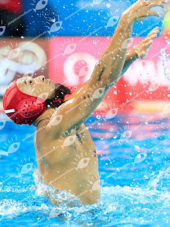 Katsuyuki Tanamura of Japan<br /> Greece  (white cap) -  Japan (blue cap)<br /> Preliminary Round Water Polo Women<br /> Day10  23/07/2017 <br /> XVII FINA World Championships Aquatics<br /> Alfred Hajos Complex Margaret Island  <br /> Budapest Hungary <br /> Photo @Deepbluemedia/Insidefoto Photo @Marcelterbals/Deepbluemedia/Insidefoto