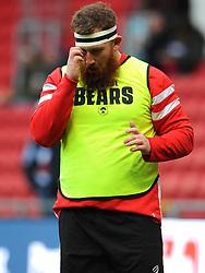 Jake Woolmore of Bristol Bears warms up prior to kick-off- Mandatory by-line: Nizaam Jones/JMP - 19/01/2019 - RUGBY - Ashton Gate Stadium - Bristol, England - Bristol Bears v Enisei-STM - European Rugby Challenge Cup