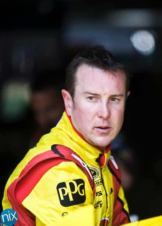 Kurt Busch during Sprint Cup Series practice prior to the Top Gear 300 Saturday morning at Charlotte Motor Speedway.  (Photo by James Nix).
