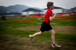 Young runner at Slovenian Cross Country Championships in Sentjur, Slovenia on March 15, 2014. (Photo by Peter Kastelic / Sportida.com)
