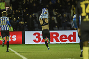 GOAL. Steven Fletcher of Sheffield Wednesday scores to make it 2-1 to Sheffield Wednesday during the EFL Sky Bet Championship match between Sheffield Wednesday and Brentford at Hillsborough, Sheffield, England on 7 December 2019.