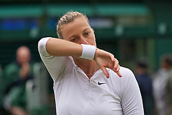 LONDON, ENGLAND - Wednesday, June 29, 2016: Petra Kvitova (CZE) during the Ladies' Singles 1st Round match on day three of the Wimbledon Lawn Tennis Championships at the All England Lawn Tennis and Croquet Club. (Pic by Kirsten Holst/Propaganda)