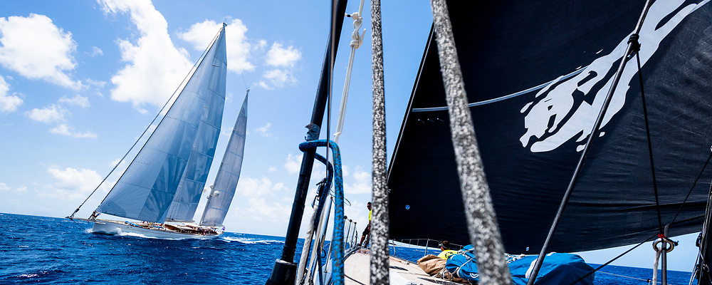 Sailing aboard Danneskjold in the St. Barth's Bucket regatta, day one.