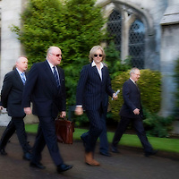 Sob Geldof in UCC at the Irish Family Business Conference. Photographed at the event were : Mr Alan Crosbie and Sir Bob Geldof. Photograph by Tomas Tyner, UCC.