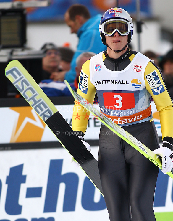 01.01.2012, Olympia Skistadion, GARMISCH-PARTENKIRCHEN, GER, 60. Vierschanzentournee, FIS Ski Sprung Weltcup, 1. wertungsdurchgang, im Bild Jure SINKOVEC (SLO) // Jure SINKOVEC of Slovenia during the 1st round of the 60th Four-Hills-Tournament FIS World Cup Ski Jumping at Olympia Skistadion, GARMISCH-PARTENKIRCHEN, Germany on 2012/01/01, EXPA Pictures © 2012, PhotoCredit: EXPA/ Sven Kiesewetter