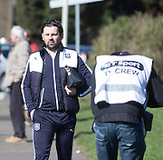 Dundee manager Paul Hartley makes the short walk down the road to Tannadice - Dundee United v Dundee - Ladbrokes Premiership at Tannadice Park <br />  - © David Young - www.davidyoungphoto.co.uk - email: davidyoungphoto@gmail.com