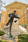 Idaho, Pocatello.  Old historic public Library in downtown Pocatello.
