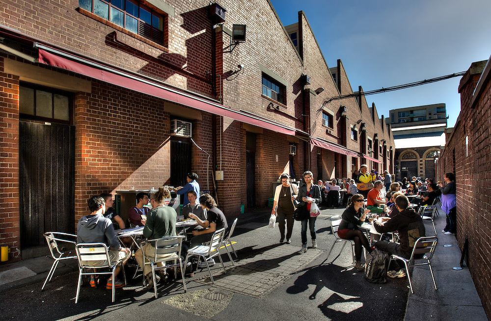 Sunny Melbourne. Queen Victoria Market, a laneway off Therry St. Pic By Craig Sillitoe CSZ/The Sunday Age.10/05/2012  Pic By Craig Sillitoe CSZ / The Sunday Age melbourne photographers, commercial photographers, industrial photographers, corporate photographer, architectural photographers, This photograph can be used for non commercial uses with attribution. Credit: Craig Sillitoe Photography / http://www.csillitoe.com<br />