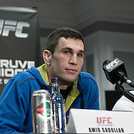 "NOTTINGHAM, ENGLAND, SEPTEMBER 27, 2012: Amir Sadollah is pictured during the pre-fight press conference for ""UFC on Fuel TV: Struve vs. Miocic"" inside the Hilton Hotel in Nottingham , United Kingdom on Thursday, Septermber 27, 2012"