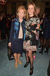 Left to right, PATRICIA CLEMENCE and her daughter VISCOUNTESS ROTHERMERE at a party to celebrate the publication of The Romanovs 1613-1918 by Simon Sebag-Montefiore held at The Mandarin Oriental, 66 Knightsbridge, London on 2nd February 2016.