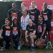Stephen Teams at London Marathon 2018 on 22 April 2018, Blackhealth, London, UK.
