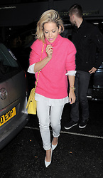 Rita Ora and Calvin Harris seen on a night out together as they arrive at the Electric Cinema in Notting Hill, London UK 13/05/13<br />BYLINE MUST READ : GOTCHAIMAGES.COM<br /><br />Copyright by © Gotcha Images Ltd. All rights reserved.<br />Usage of this image is conditional upon the acceptance <br />of Gotcha Images Ltd, terms and conditions available at<br />www.gotchaimages.com