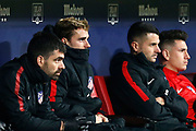 Atletico Madrid's French forward Antoine Griezmann sits on the bench during the Spanish Cup, Copa del Rey quarter final, 1st leg football match between Atletico Madrid and Sevilla FC on January 17, 2018 at Wanda Metropolitano stadium in Madrid, Spain - Photo Benjamin Cremel / ProSportsImages / DPPI