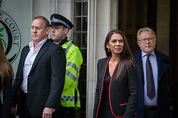 December 8, 2016 - London, London - London, UK. Gina Miller (centre) arrives at the Supreme Court in Westminster, London, for the fourth and final day of the government's appeal against an earlier High Court ruling, on the process for invoking Article 50 to leave the European Union. The High Court decision of 3 November 2016, in favour of lead claimant Gina Miller, ruled that parliament must be given a vote before Brexit negotiations can begin. (Credit Image: © Rob Pinney/London News Pictures via ZUMA Wire)