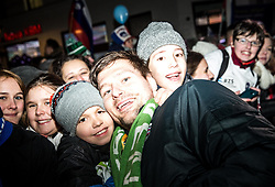 Marko Bezjak with fans during reception of Slovenian National Handball Men team after they placed third at IHF World Handball Championship France 2017, on January 30, 2017 in Mestni trg, Ljubljana centre, Slovenia. Photo by Vid Ponikvar / Sportida