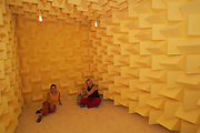 "VENICE, ITALY..50th Biennale of Venice.Luxembourg Pavillion..Exhibition ""air conditioned""  by Su-Mei Tse, Golden Lion (first prize) for best national contribution..Installation ""anechoic chamber"", 2003.(Photo by Heimo Aga)"