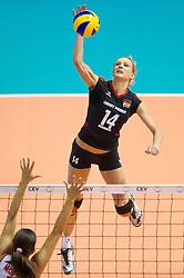 02.10.2011, Hala Pionir, Belgrad, SRB, Europameisterschaft Volleyball Frauen, Finale, Deutschland (GER) vs. Serbien (SRB), im Bild Margareta Kozuch (#14 GER / Sopot POL) // during the 2011 CEV European Championship, Final at Hala Pionir, Belgrade, SRB, Germany vs Serbia, 2011-10-02. EXPA Pictures © 2011, PhotoCredit: EXPA/ nph/  Kurth       ****** out of GER / CRO  / BEL ******
