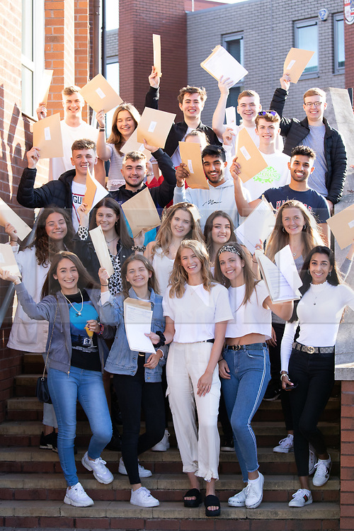 © Licensed to London News Pictures. 15/08/2019. Solihull, West Midlands UK. Solihull School A level results. Pupils celebrating their A level results. Photo credit: Dave Warren/LNP