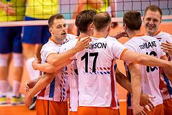 20-05-2018 NED: Netherlands - Slovenia, Doetinchem<br /> First match Golden European League / (L-R) Robbert Andringa #18 of Netherlands, Daan van Haarlem #1 of Netherlands