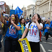 Put It To The People march for a Peoples Vote on 23rd March 2019 in London, United Kingdom. With less than one week until the UK is supposed to be leaving the European Union, the final result still hangs in the balance. An estimated one million protesters gathered to make political leaders take notice and to give the British public a vote on the final Brexit deal.