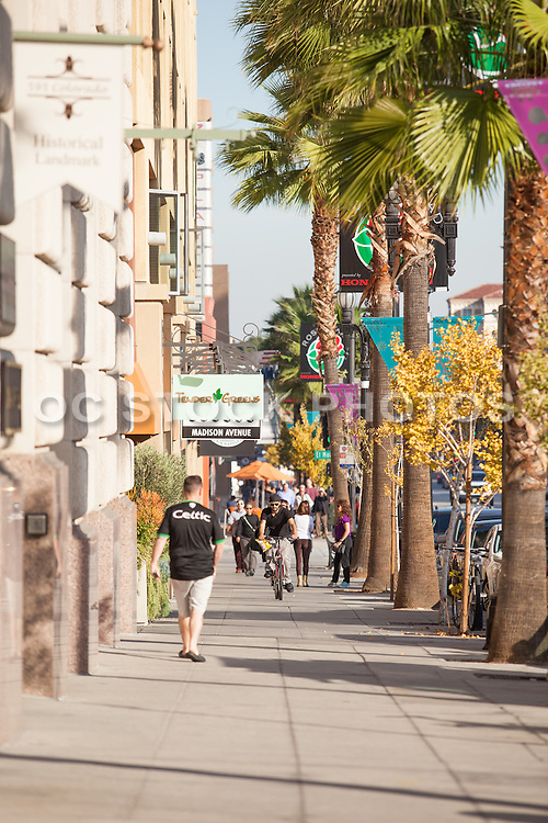 People out Walking on Colorado Boulevard Pasadena